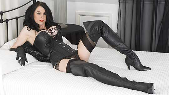 Just like the fetish girls from the kinky 50s Louise is a mistress equipped to thrill Long fully fashioned nylon clad legs sheer panties to match and thigh high leather boots and gloves Dare your resist Dare you touch your throbbing hard cock before she instructs you Only you know the answer and the consiquences